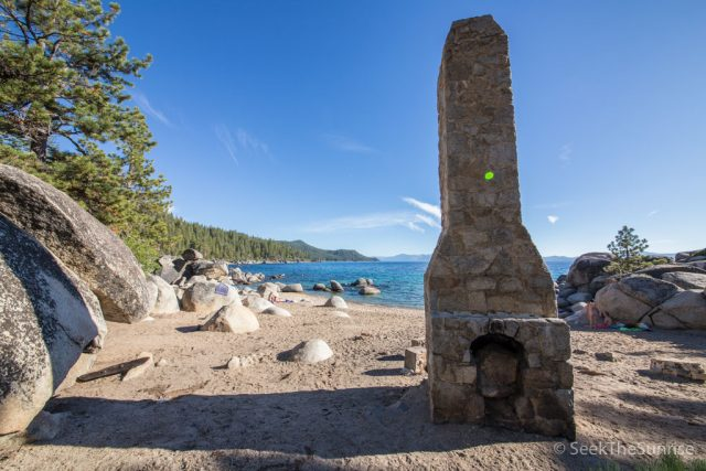 Chimney Beach in Lake Tahoe, Nevada