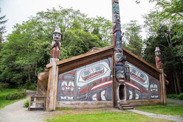 Totem Bight State Historical Park in Ketchikan, Alaska