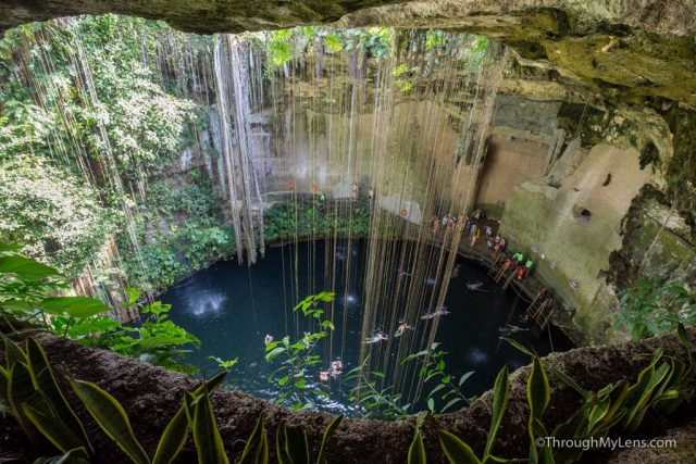 Cenote Ik Kil: A Beautiful Underground Pool in Yucatan, Mexico